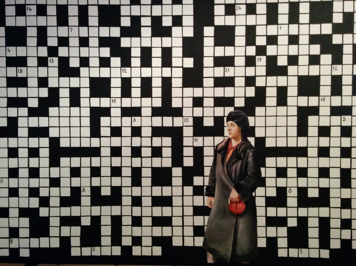 Old Lady Mistakenly Fills in Crossword Art Exhibit, Becomes Art