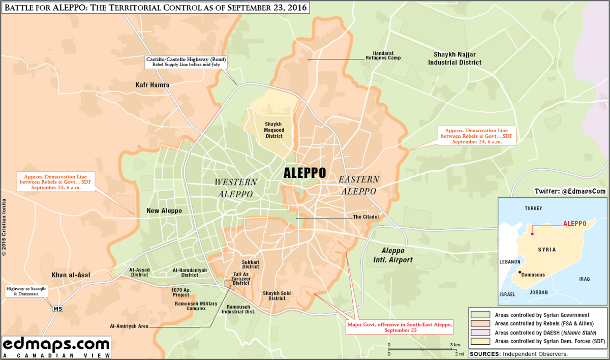 The Tactical Situation Around the Siege of Aleppo